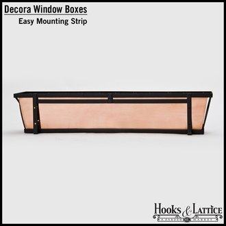 48in. Venetian Decora Window Box w/ Black Tone Galvanized Liner