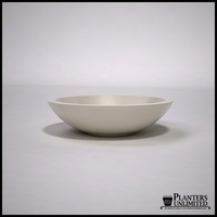 "24""Dia. x 6""H Modern Low Bowl Fiberglass Planter"