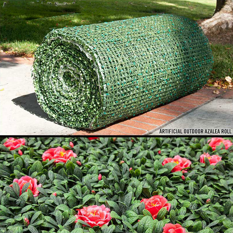 uv rated fabricated azalea roll up|artificial plants unlimited