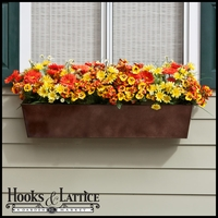 24in. Galvanized Window Box - Bronze