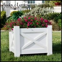 "24 in. Main Street Premier PVC Planter w/ Feet| 24"" W x 19"" H"