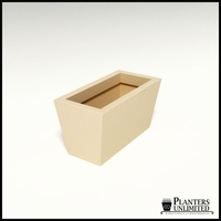 Modern Tapered Fiberglass Commercial Planter 24in.L x 12in.W x 12in.H