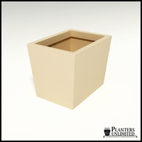 Modern Tapered Fiberglass Commercial Planter 24in.L x 16in.W x 18in.H