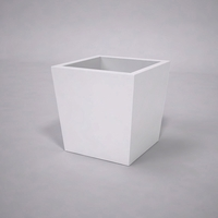 Urban Chic Tapered Premier Composite Commercial Planter 24in.L x 24in.W x 24in.H