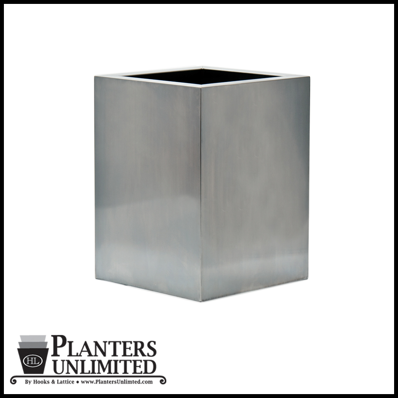 Stainless Steel Commercial Planter 24in L X 24in W X 30in H