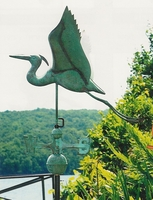 "24"" Large Blue Heron Weathervane"