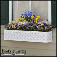 "24"" Lattice Premier Window Box w/ *Easy Up* Cleat Mounting System"