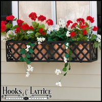 "24"" Lattice Window Box Cage"