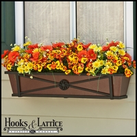"24"" Medallion Decora Window Boxes w/ Textured Bronze Liners"