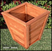 "24"" Morro Bay Tapered Redwood Planter"