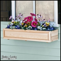 48in. Raised Panel Cedar Window Box with Liner Option