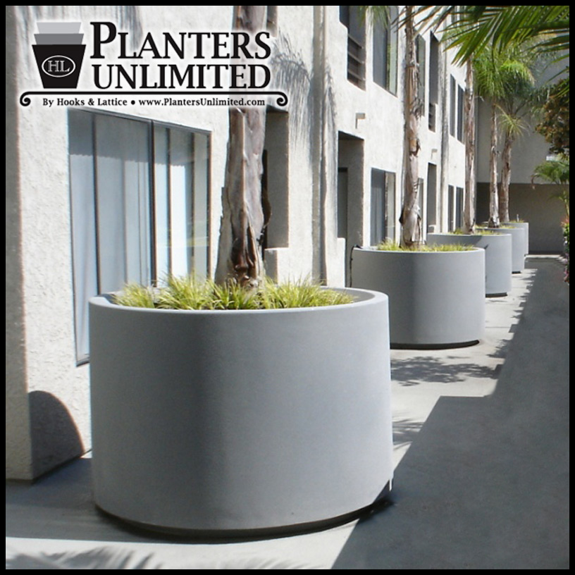 ... Planters Designs Tall Round Large Garden Planter 3 To Enlarge ...