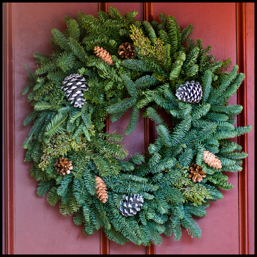 Quot rustic holiday outdoor wreath