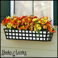 24in. Santiago Decora Window Box w/ Vinyl Liner