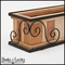 """24"""" Scroll Cage with Paneled Redwood Insert"""