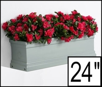 24in. Slate Grey Supreme Fiberglass Window Box