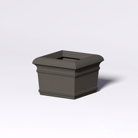 "24"" Square x 18"" High Valencia Tapered Planter"