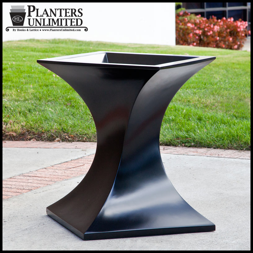 24 square x 29h contemporary twist planter contemporary twist planter click to enlarge workwithnaturefo