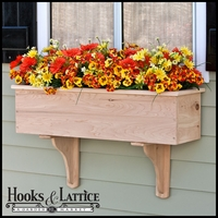 24in. Traditional Wood Planter Box