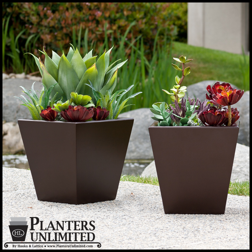 Very best 24in. Urban Chic Planter with Artificial Agave and Assorted Succulents TI48