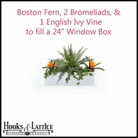 "24"" Window Box Recipe - Artificial Tropical Flowers"