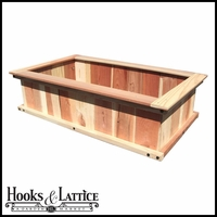 "24""x48""x12"" Redwood Raised Bed"
