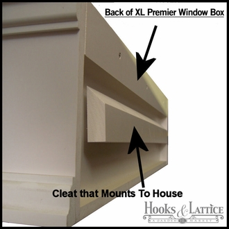 "24"" XL Panel Premier Window Box w/ *Easy Up* Cleat Mounting System"