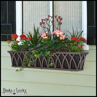 24in. Arch Decora Window Box w/ Black Galvanized Liner