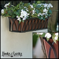 24in. Arch Decora Window Box w/ Textured Bronze Liner (Hammered Finish)