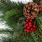 24in. Artificial Mixed Pine Wreath w/ Red Berries and Pine Cones