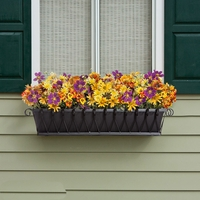 Del Mar Decora Window Boxes with Black Galvanized Liners