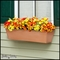 36in. Galvanized Window Box- Copper Tone