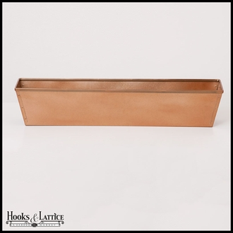 24in. Galvanized Window Box- Copper Tone