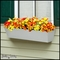 30in. Galvanized Window Box- Silver Tone