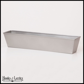 24in. Galvanized Window Box- Silver Tone