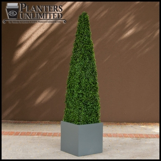 24in.H x 12in. Base Artificial Topiary Obelisk