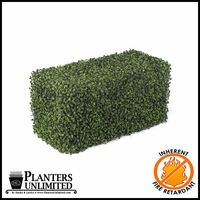 Boxwood Fire Retardant Artificial Hedge 24in.L x 12in.W
