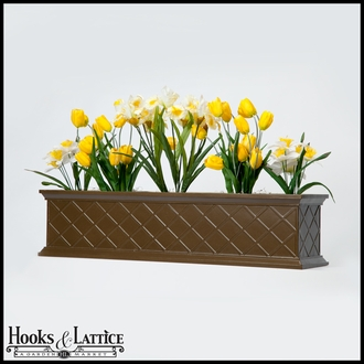24in. La Fleur Self-Watering Fiberglass Window Box Planter