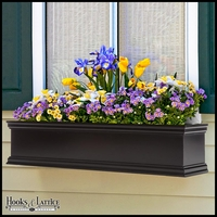 24in. Laguna Fiberglass Window Box - Black