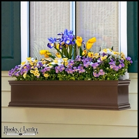 24in. Laguna Fiberglass Window Box - Bronze