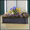 24in. Laguna Fiberglass Window Box - Distressed Pewter
