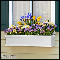 24in. Laguna Fiberglass Window Box - White