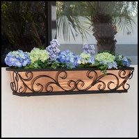 24in. Regalia Decora Window Box w/ Real Copper Liner