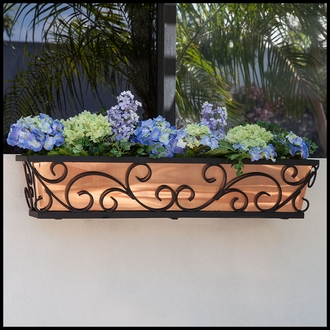 72in. Regalia Decora Window Box w/ Real Copper Liner