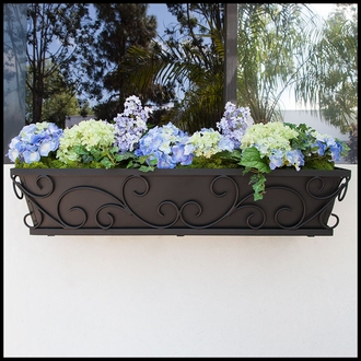 48in. Regalia Decora Window Box with Black Galvanized Liner