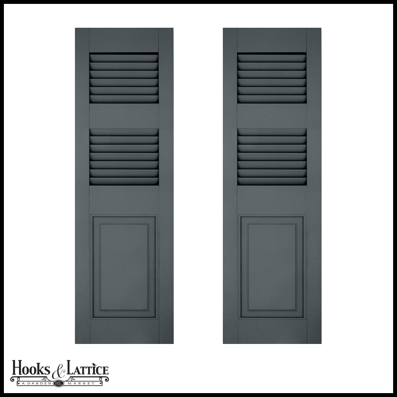 21in Wide Architectural Collection Combination Shutters