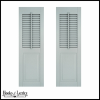 12in. Wide - Architectural Collection Combination Shutters w/ Faux Tilt Rod (Pair)