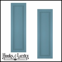 24in. Wide - Architectural Collection Raised Single Panel Shutters (pair)