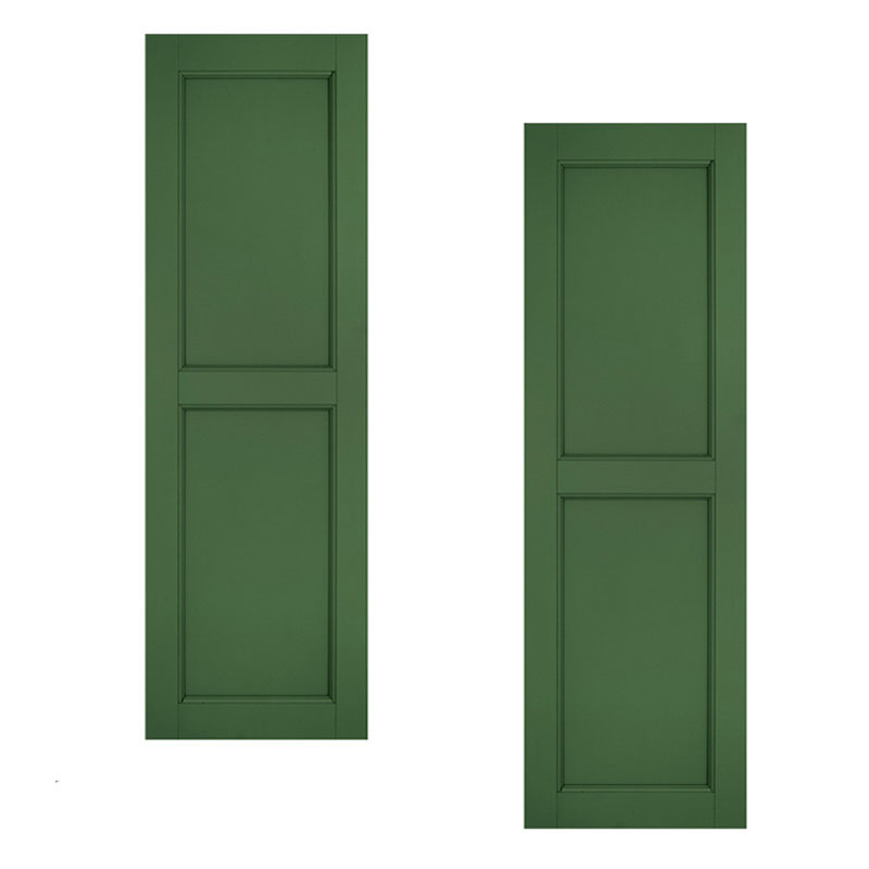 24in Wide Classic Collection Two Equal Raised Panel Shutters Pair