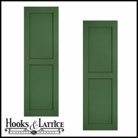 24in. Wide - Architectural Collection Raised Two Panel Composite Fiberglass Shutters (pair)